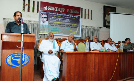 E. Harikumar speaking